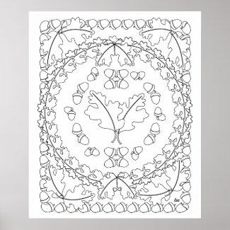 Oak Leaves Poster Art