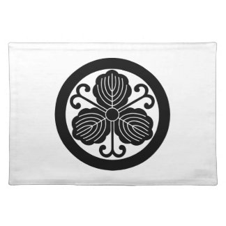 Oak leaves with vines in circle cloth placemat