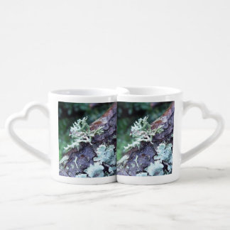 Oak Moss Lichen On Branch Couples Coffee Mug