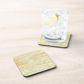 Oak or Pine Wood Texture Drink Coaster