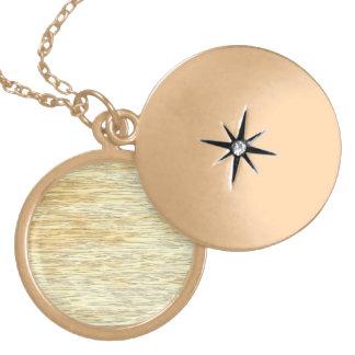 Oak or Pine Wood Texture Locket Necklace