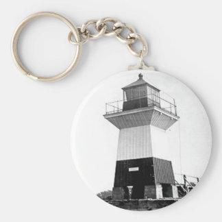 Oak Orchard Lighthouse Basic Round Button Keychain