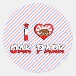 Oak Park, CA Etiquetas Redondas