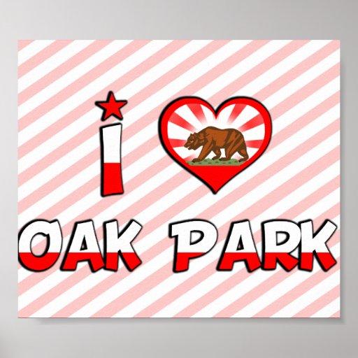 Oak Park, CA Poster