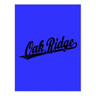 Oak Ridge script logo in black Postcard