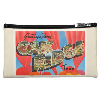 Oak Ridge Tennessee TN Old Vintage Travel Souvenir Makeup Bag