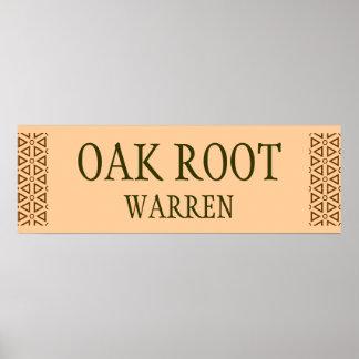 Oak Root warren sign