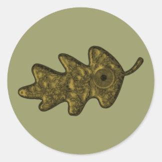 Oak sheet eye oak leaf eye stickers