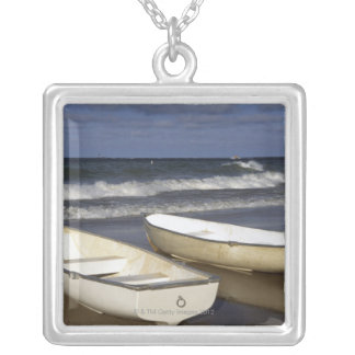 Oak Street Beach, Beach, Lakeshore, Lake Silver Plated Necklace