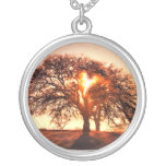 oak Tree and Heart Necklace