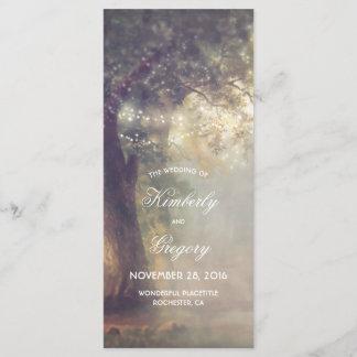 Oak Tree and String Lights Rustic Wedding Programs