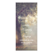 Oak Tree and String Lights Rustic Wedding Programs