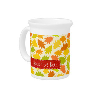 Oak tree autumn leaves pitcher