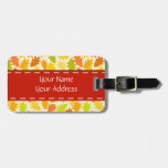 Oak tree autumn leaves tag for bags