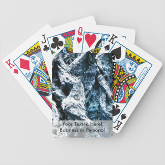 Oak tree bark blue tint background texture bicycle playing cards