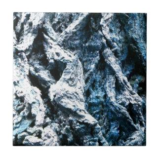 Oak tree bark blue tint background texture ceramic tile
