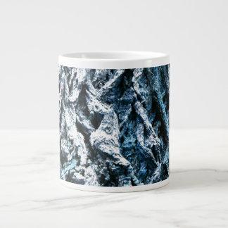 Oak tree bark blue tint background texture giant coffee mug