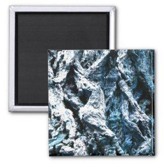 Oak tree bark blue tint background texture fridge magnets