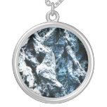 Oak tree bark blue tint background texture necklaces