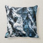 Oak tree bark blue tint background texture pillows