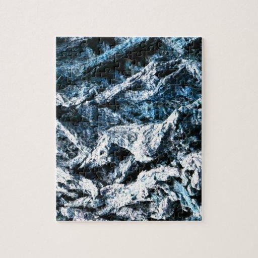 Oak tree bark blue tint background texture jigsaw puzzle