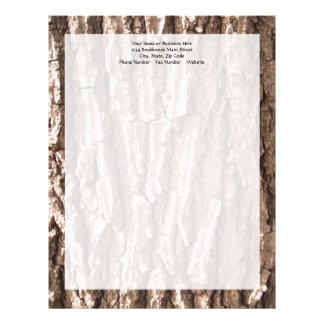 Oak Tree Bark Graphic Letterhead