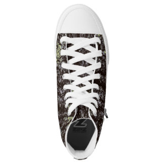 Oak Tree Bark High-Top Sneakers
