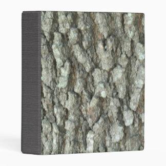 Oak Tree Bark Real Wood Camo Camouflage Mini Binder