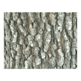 Oak Tree Bark Real Wood Camo Nature Camouflage Full Color Flyer