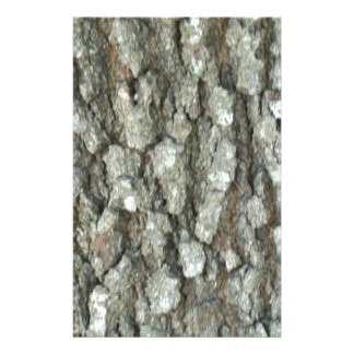 Oak Tree Bark Real Wood Camo Nature Camouflage Stationery