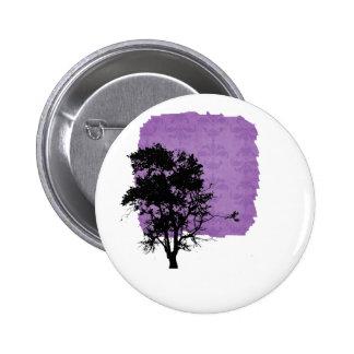 Oak tree black left side shadow button