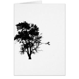 Oak tree black left side shadow card