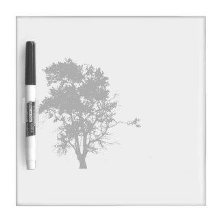 Oak tree black left side shadow dry erase board