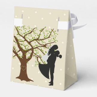 Oak Tree Bride and Groom Favor Tent Box