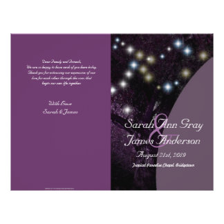 Oak Tree celebration wedding program