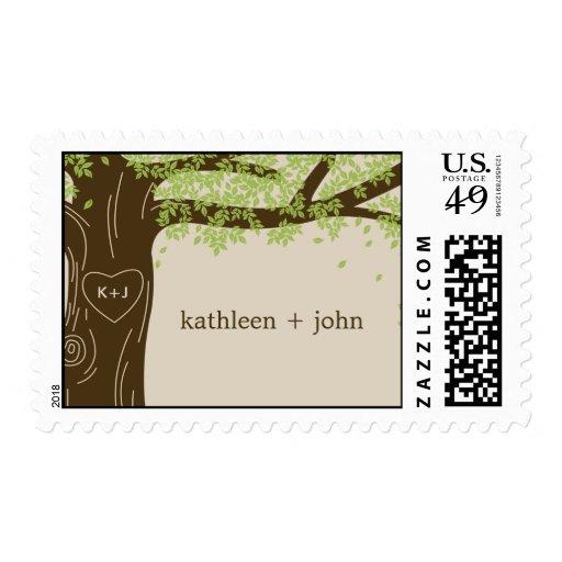 Oak Tree Custom Postage Stamp