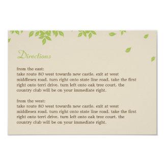 Oak Tree Directions Card