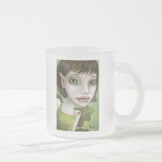 oak tree elf 10 oz frosted glass coffee mug