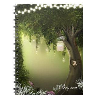 Oak Tree Enchanted Forest Garden Notebook Journal