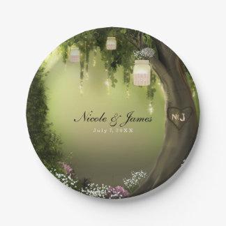 Oak Tree Enchanted Forest Garden Wedding Plates