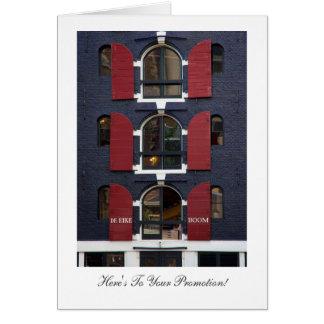 Oak Tree Eyes, Amsterdam - Congrats on Promotion Greeting Card