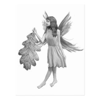 Oak Tree Fairy with Leaf Postcard
