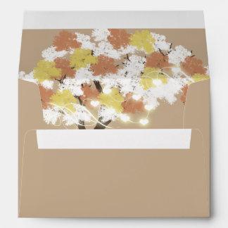 Oak Tree fall string lights Envelope