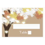 Oak Tree fall string lights Large Business Card