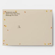 Oak Tree Fall Wedding - A7 Envelope