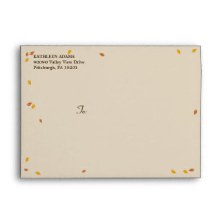 Oak Tree Fall Wedding - A7 Envelope