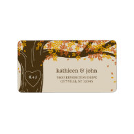 Oak Tree Fall Wedding Address Labels Labels