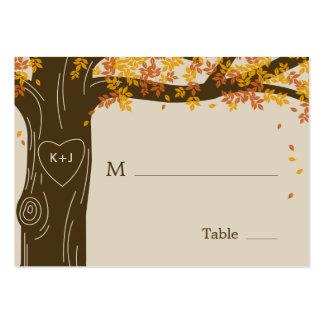 Oak Tree Fall Wedding Flat Place Cards