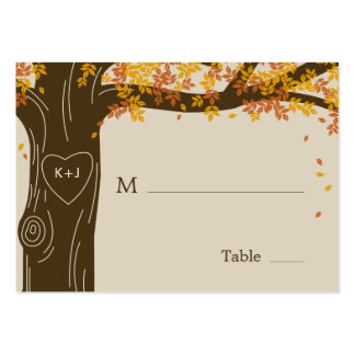 Oak Tree Fall Wedding Flat Place Cards Business Cards
