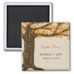 Oak Tree Fall Wedding Magnet